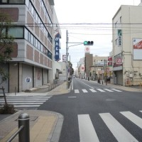 水戸城西側の東西道