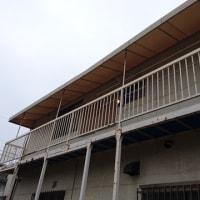 岡山市南区で屋外テント張替え工事スタート