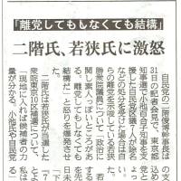 小池知事支援の区議7人 離党勧告に従わない方針 若狭素人はちゃっちゃと離党しろ!