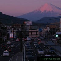 静岡鉄道電車 柚木駅付近 夕方の風景 (2017年2月25日)