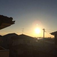 朝日が昇る頃