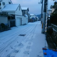 朝の川西市は雪が凄かった!