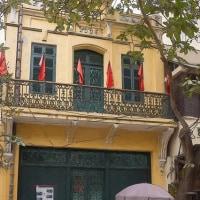 2017.01.15 ベトナム ハノイ旧市街: 歩道で憩う人達