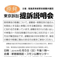 福島原発被害東京訴訟第5次提訴説明会