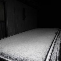 明け方前の東祖谷は雪が、ちらつくく事も・・・