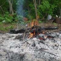 まずは焚火で