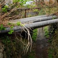 池島炭鉱:ボタ運搬軌道跡
