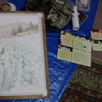 絵「雪の峠越え」(工程)