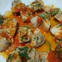 鶏肉の香草焼きトマトソース