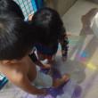 みどり 4歳児 チョーク遊び・野菜収穫