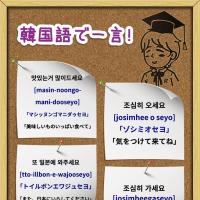 Rs:Rs:「韓国語で一言!」 美味しいものいっぱい食べて、気をつけて来てね、また日本にいらしてください、お気をつけて