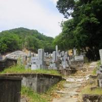 2 髙松山(339m:安佐北区)登山  墓地に