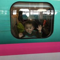 初めての新幹線~♪