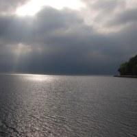 光線 湖面を照らす!!