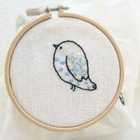 鳥さん刺繍