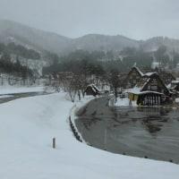 雪景色の白川郷!
