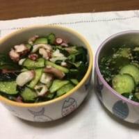 作品『夏リース』☆夏野菜料理『キュウリ大量消費』