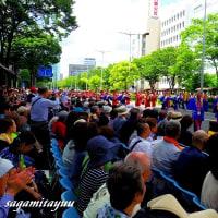 東北絆まつりパレード「盛岡のさんさ踊り」太鼓パレード!!