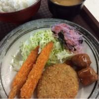 エビフライ・牛肉コロッケ・肉団子甘酢だれ