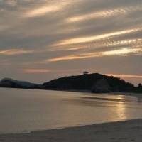さくら@沖縄・渡嘉敷島-夕食前にビーチへ