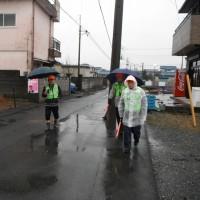 日記(2.19) 昨日の防犯パトロールは雨の中