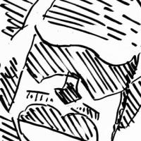 「抽象化の実験」イチロー(抽象的似顔絵)