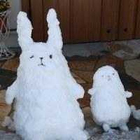 雪のオブジェ!?