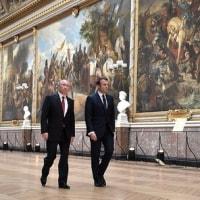 プーチン大統領、フランス訪問
