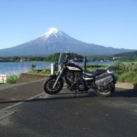 福岡からバイクで主人と見に行った富士山・・・