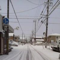 この冬はじめての積雪2017