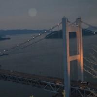 瀬戸大橋の夕暮れ