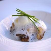 牡蠣とレンコン餅。