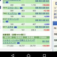本日仕事 そしてこうちゃん 1/17の株の結果