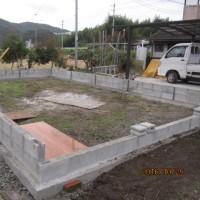 蘭舎作り 「ブロック積み2段目完成」