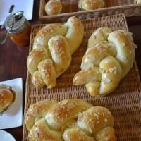 午後の森天然酵母パン教室は、インパクトある三つ編みパン。