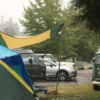 久しぶりのキャンプ、雨でも楽しいね!