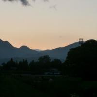 我が家からの夕暮れの風景!