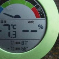 平成29年1月18日・今朝の東祖谷-7.3℃