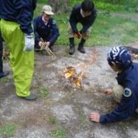薮刈り&焚き火