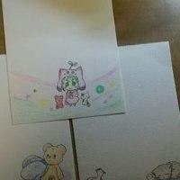 娘の描いたポストカード