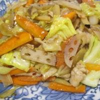 鶏胸肉と山芋の炒め物