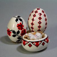 イースターエッグのウクライナ模様