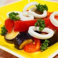♪ふわふわ卵の天津丼&いかと夏野菜のマリネ♪