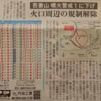 吾妻山の規制解除!!