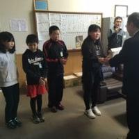 釧路市立鳥取小学校児童会から寄付受納