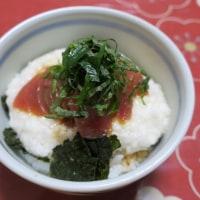 鮪とろろ丼&お好み焼き&チヂミ&牛肉のおろしぽん酢