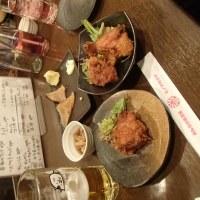 お母さんのお店千円(写真は、牡蠣のホイル包、確か300円で4粒)!と、、