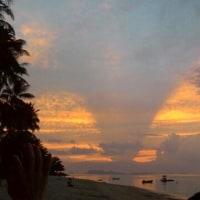 バンポービーチからの夕日