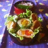 朝ご飯になったパプリカ豚肉巻き弁当♪