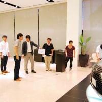 レクサス岡山店での展示会が始まりました。